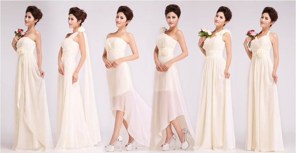6-Design Bridesmaid Long Dress