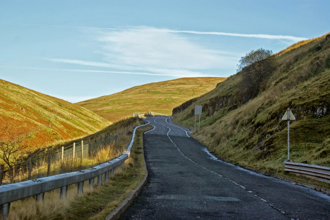 photo of a road in Scotland taken by Paul Boland