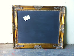 Gold Magnetic and Chalk Board **SOLD**