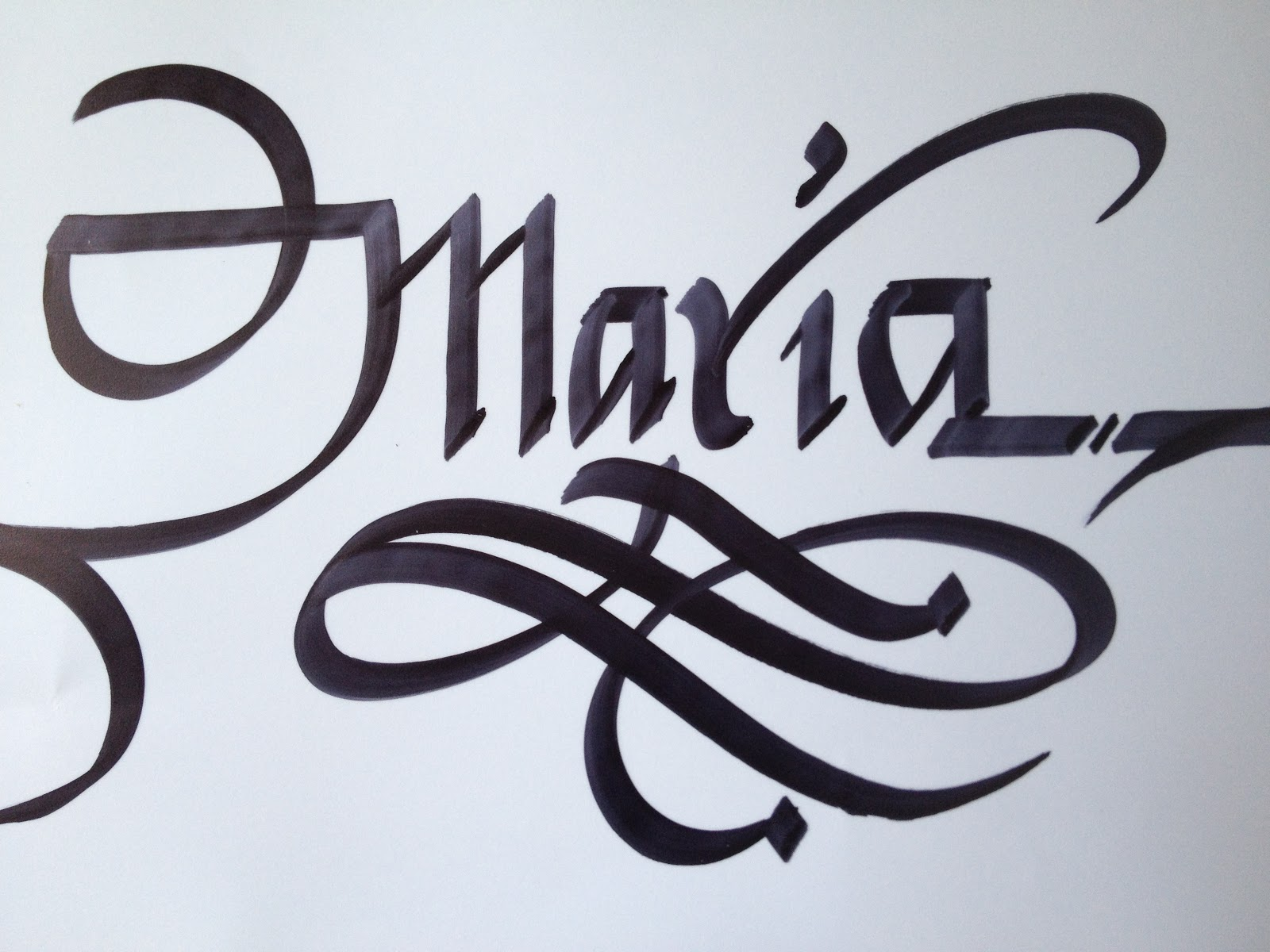 Calligraphy art august 2012 My name in calligraphy