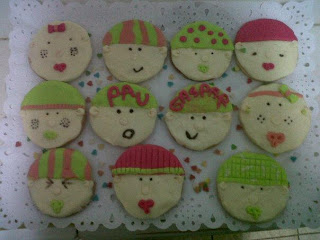 Galletas bebes decoradas con Fondant