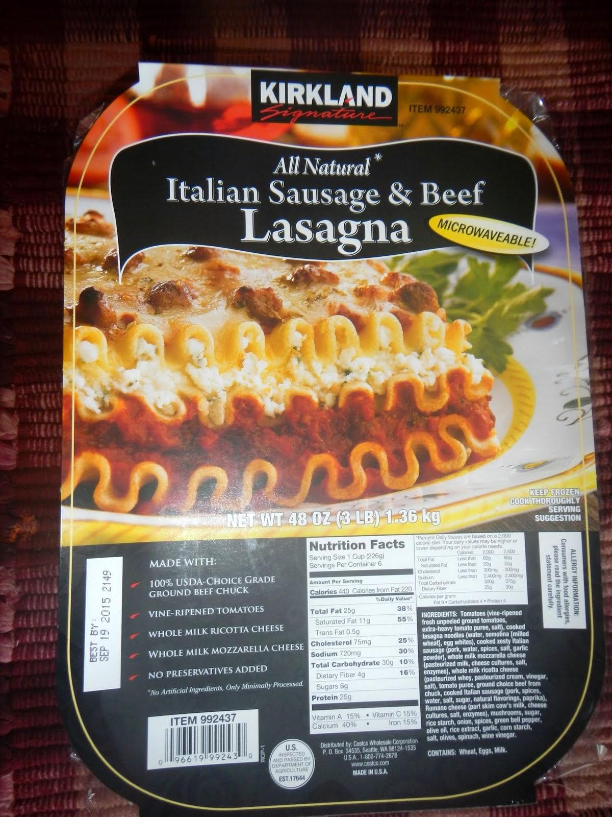 how to cook costco lasagna