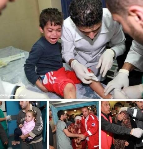 Crianças palestinas são feridas e mortas por ataque israelense