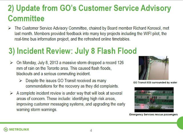 GO Train Flood Toronto Metrolinx