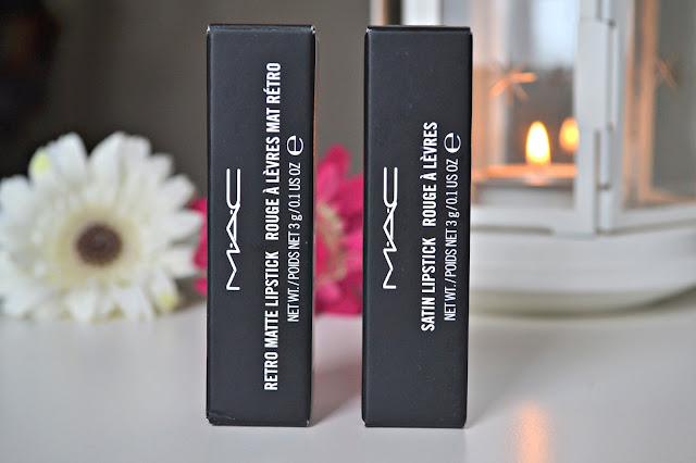 Photo of boxed Mac lipsticks