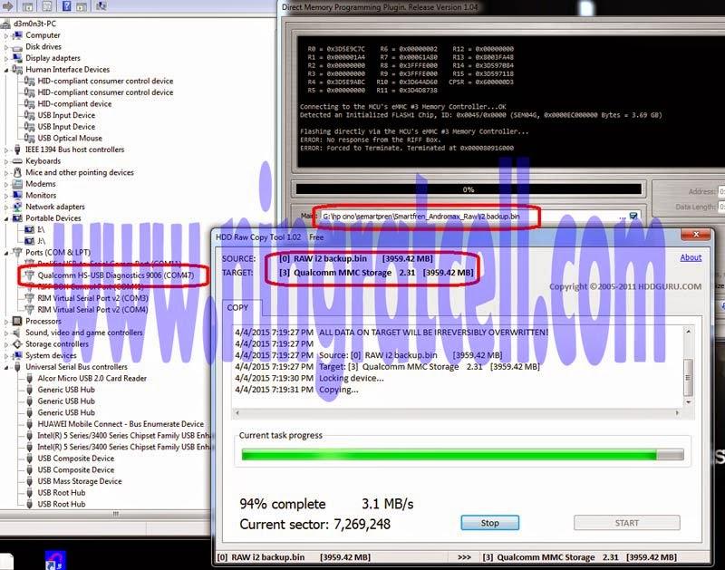 Mengatasi Hardbrick AD683J usb tidak detect, 9008, 9006