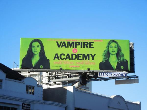 Vampire Academy movie billboard