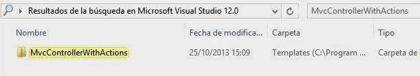 Customizar plantillas MVC Visual Studio