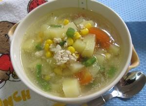 cara membuat sup lezat bergizi Sup Kentang Jagung Manis