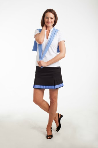 http://www.pinkgolftees.com/golftini-black-pleat-with-blue-saddle-stitch-golf-skort.html