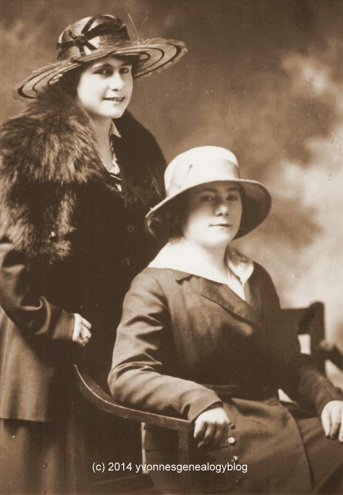 Albertine Gagnon and her sister Cora Gagnon in the 1920s