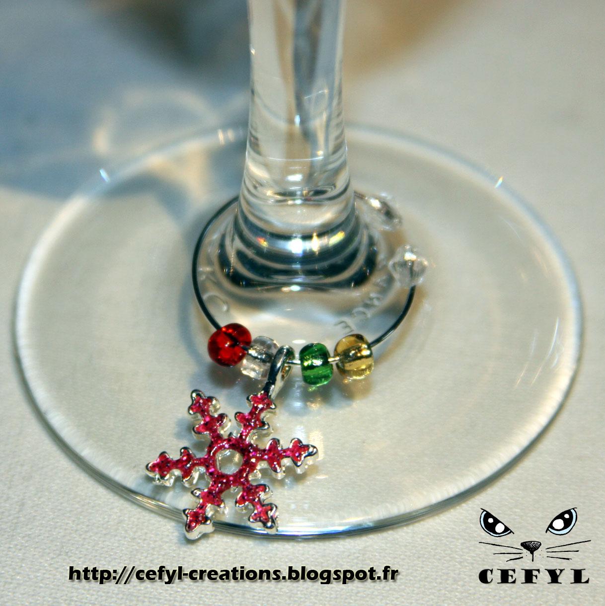 Identificateur ou d coration de verre pied no l argent for Decoration verre