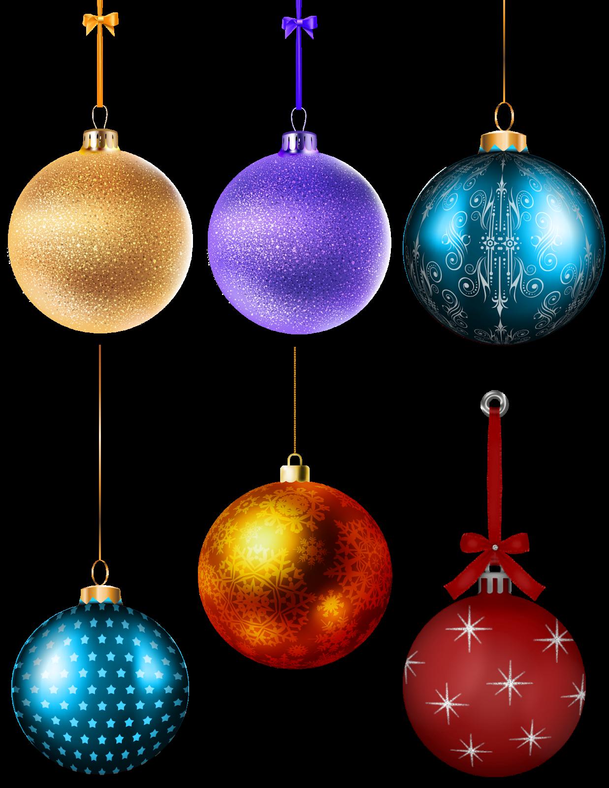 Varias esferas para árbol de navidad