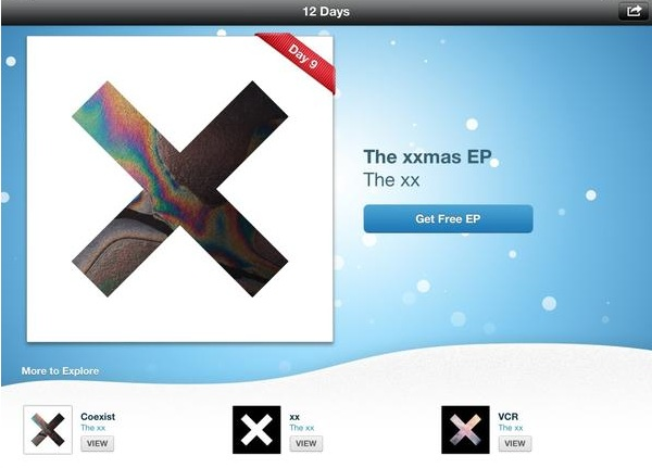 iTunes 12 Days of Christmas gifts