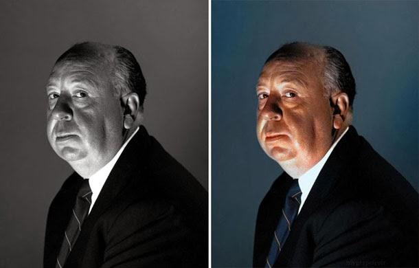Alfred Hitchcock - manipulação digital - Sanna Dullaway