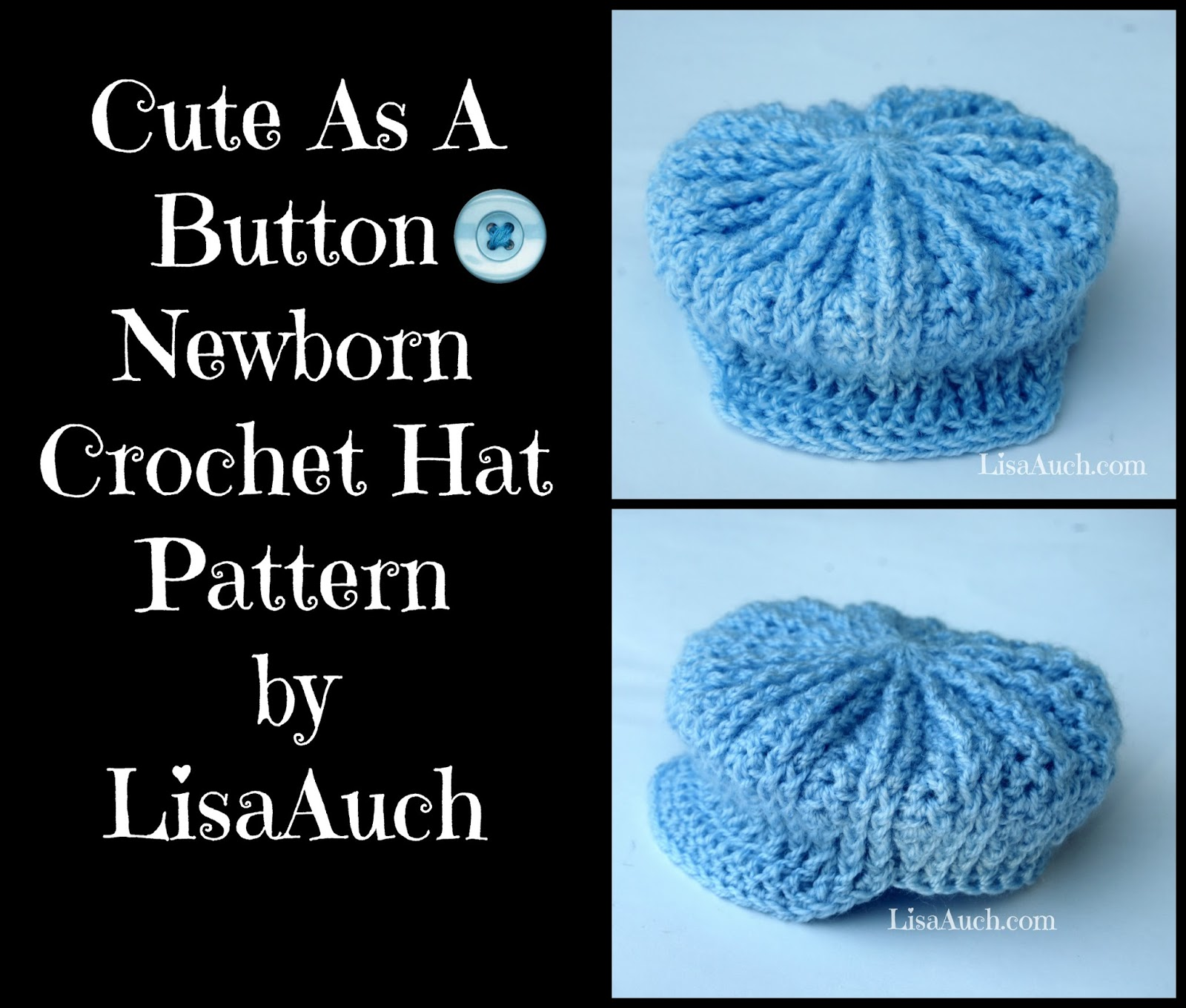 Cute as a button newborn crochet hat pattern free perfect for baby free crochet baby hat pattern free crochet patterns free crochet baby hat pattern newborn cute bankloansurffo Choice Image