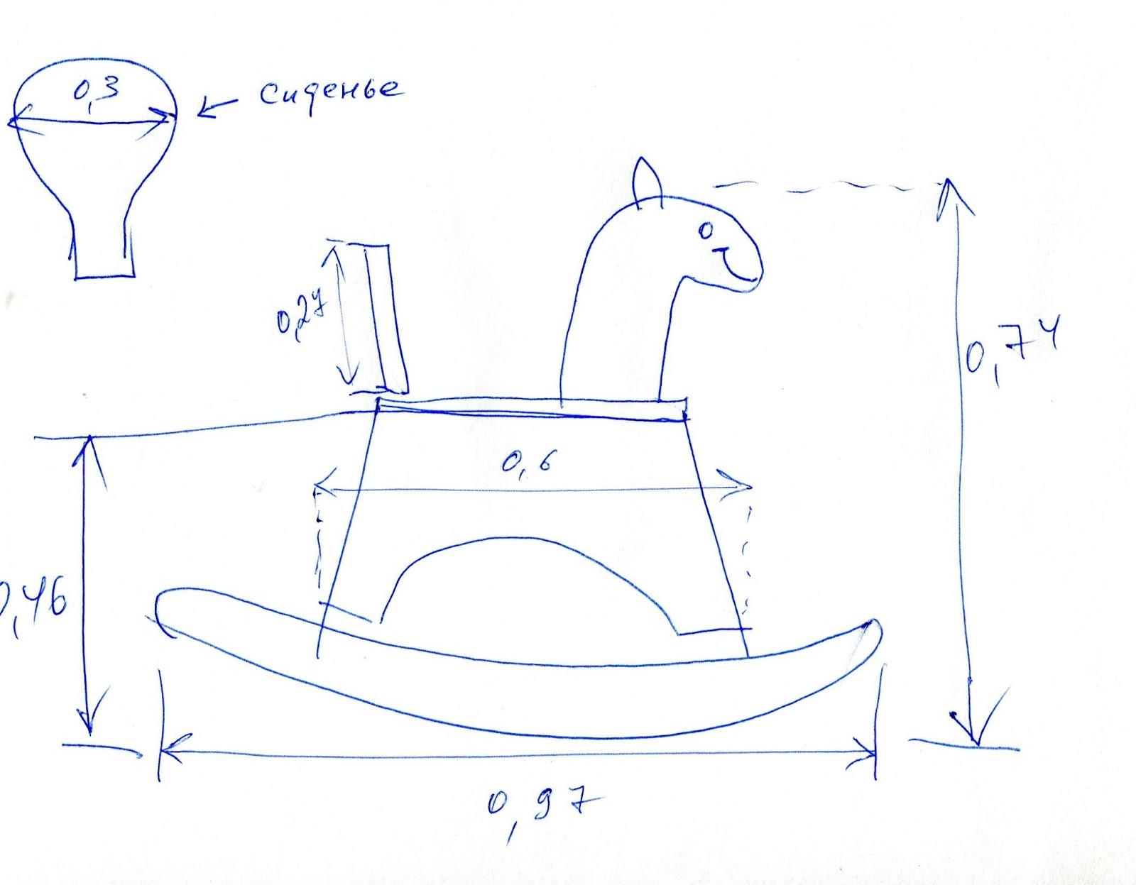 Как сделать лошадка-качалка чертежи