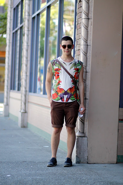 Seattle Street Style Fashion It's My Darlin' Anthony Zachry tropical Print Summer