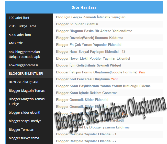 blogger-site-haritasi-olusturma