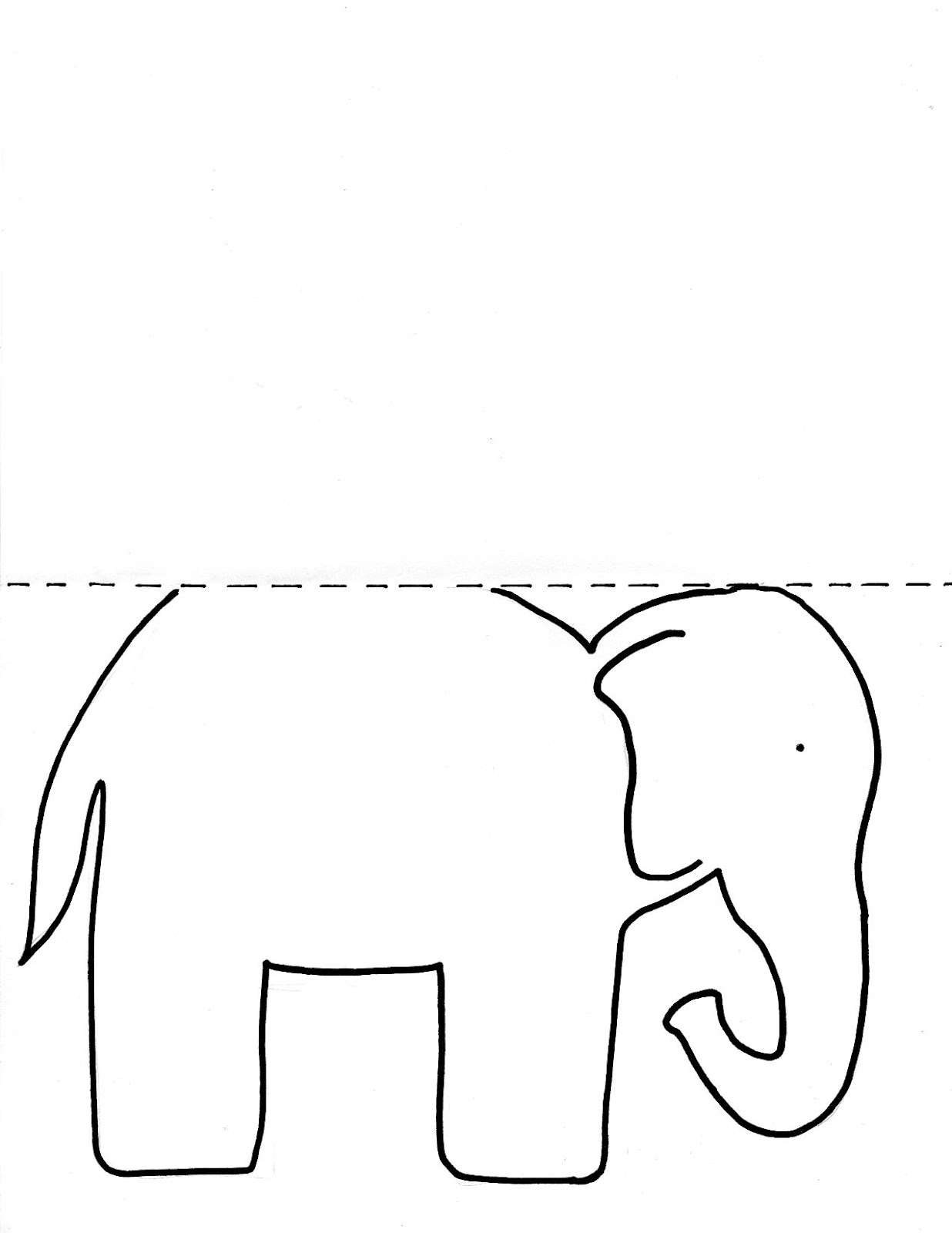 Elephant body outline