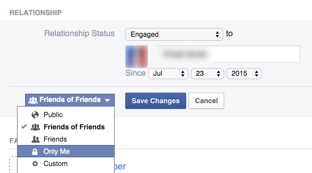 how to change your relationship status