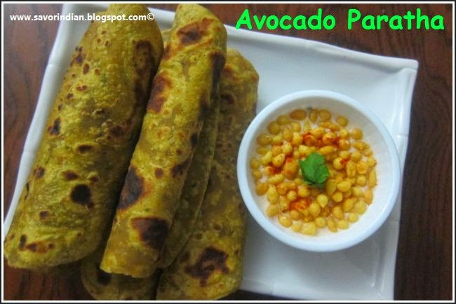 avocado paratha /indian flat bread using avocado