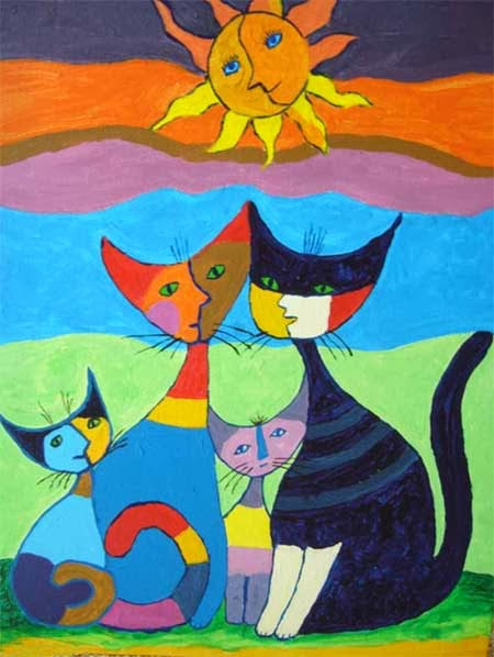 Coloriage Chat Rosina Wachtmeister.Chats Rosina Wachtmeister