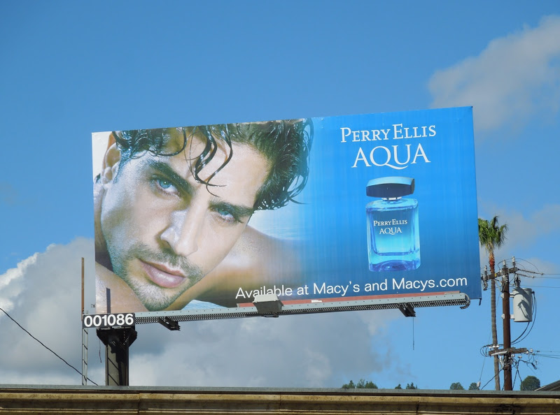 Perry Ellis Aqua cologne billboard