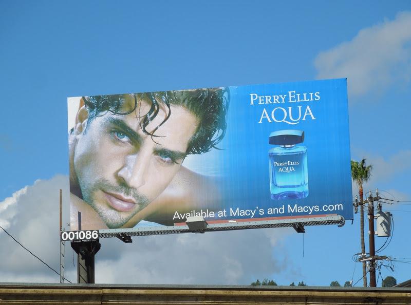 Perry Ellis Aqua cologne billboard