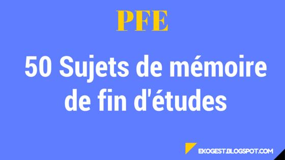 50 Sujets de mémoire de fin d'études | EkoGest | économie ...