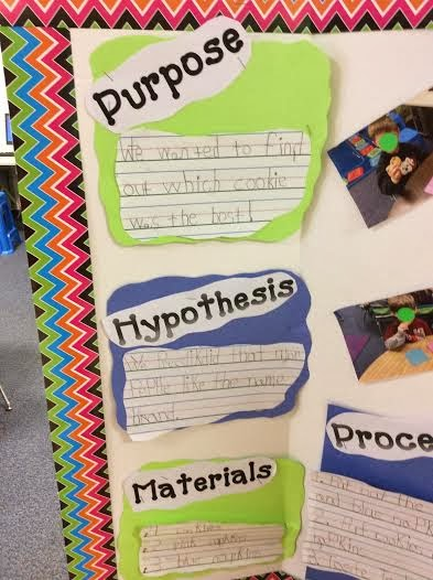 "For the purpose a student wrote: ""We wanted to find out which cookie ..."