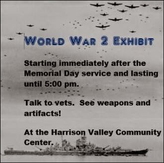 WWII Exhibit at Harrison Valley