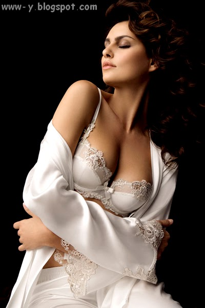 صورة، قميص نوم، مثير، إغراء، أبيض