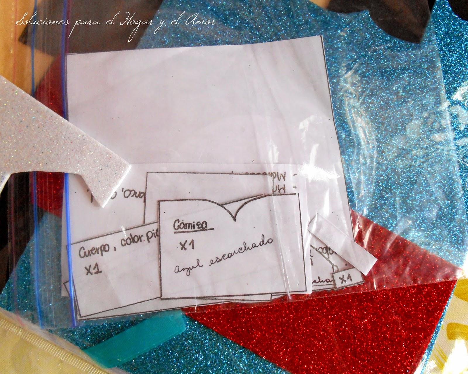 materiales para hacer muñecos de foamy
