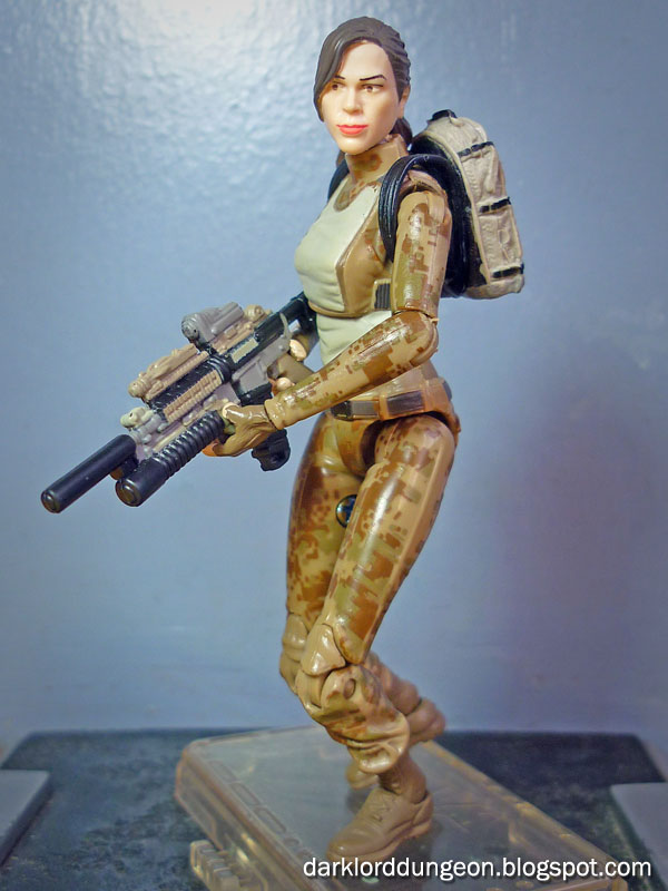 Gi joe retaliation lady jaye with her bazooka. do note how she can