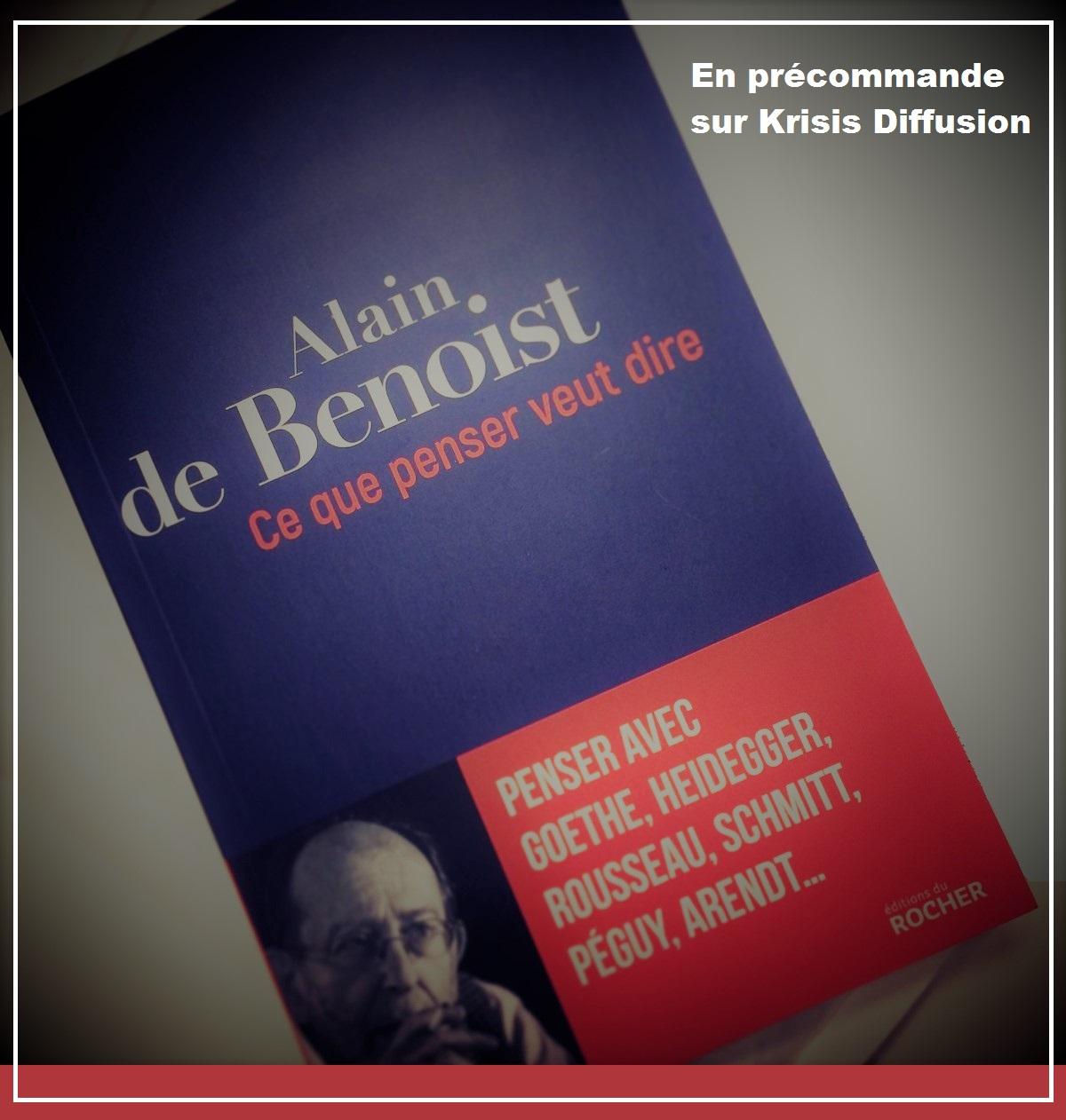 Le prochain livre d'Alain de Benoist