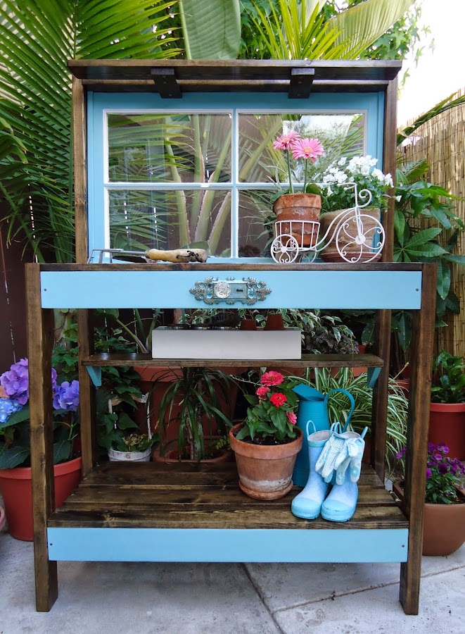 Vintage Window Potting Bench - SOLD