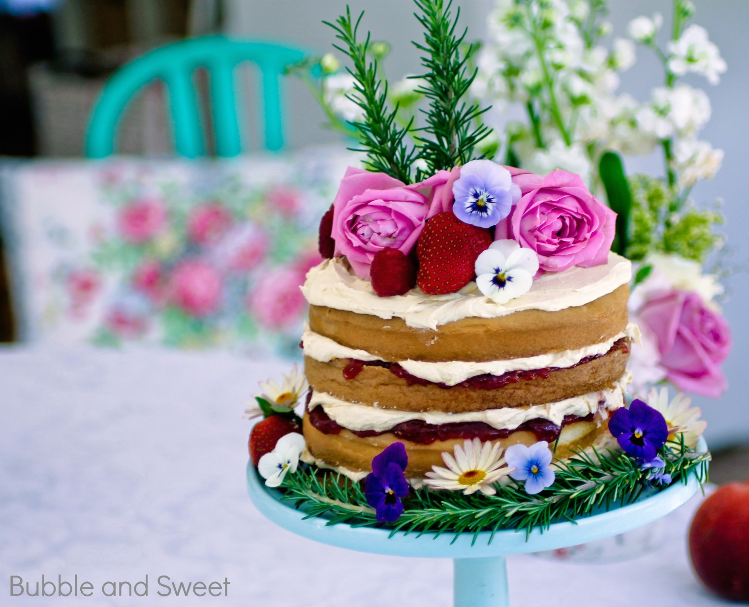 Rustic Naked Cake How To