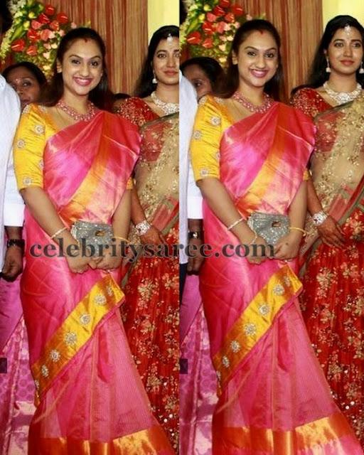 Preeta Vijay Kumar Pink Saree