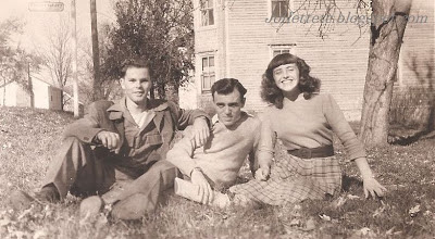 Mary Eleanor &quot;Duney&quot; Davis and 2 unknowns at Shenandoah College and Conservatory