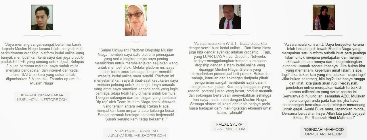 muslim niaga, perniagaan dropship, users testimony, perniagaan dalam islam, platform dropship, produk islamic, muslim products, online marketing