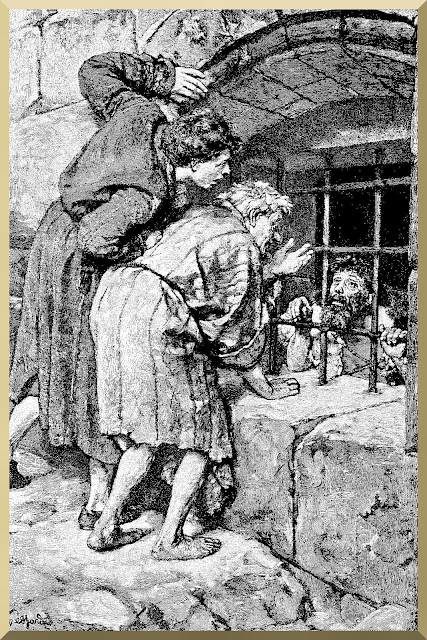 """John sends disciples to Jesus"" -- Franz Karl Eduard von Gebhardt"