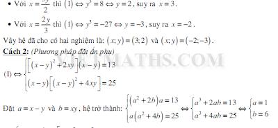 phuong phap giai he phuong trinh hai an, phương pháp giải hệ phương trình hai ẩn