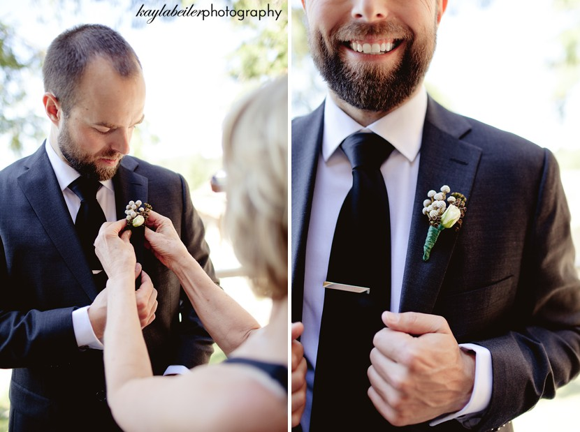 man getting ready wedding photo