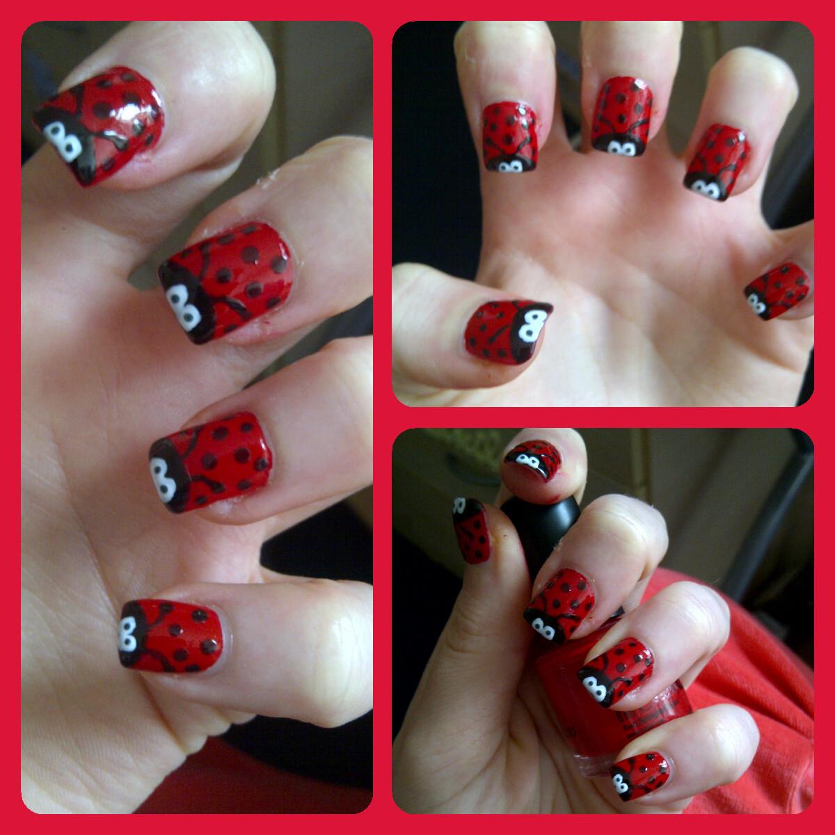 In Samazement Ladybird Nail Art