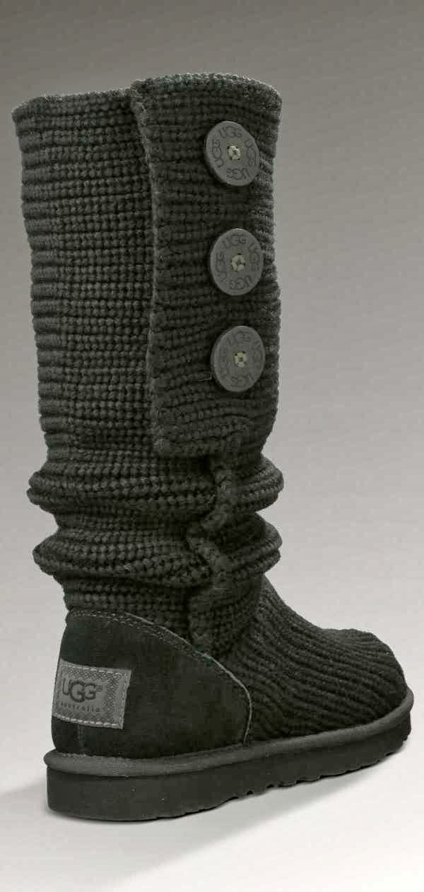 Gorgeous long classic black warm uggs fashion