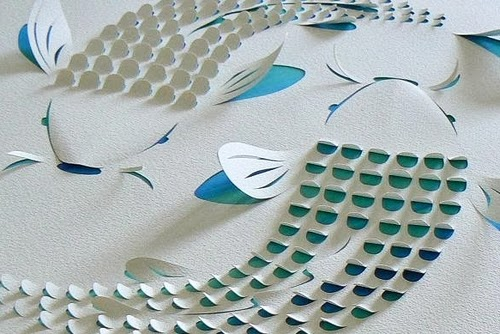 02-Two-Koi-Carp-Blue-Detail-Hand-Cut-Paper-Work-Australian-Lisa-Rodden-www-designstack-co