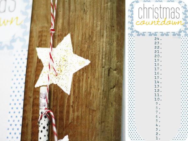 Free printable Christmas Countdown!