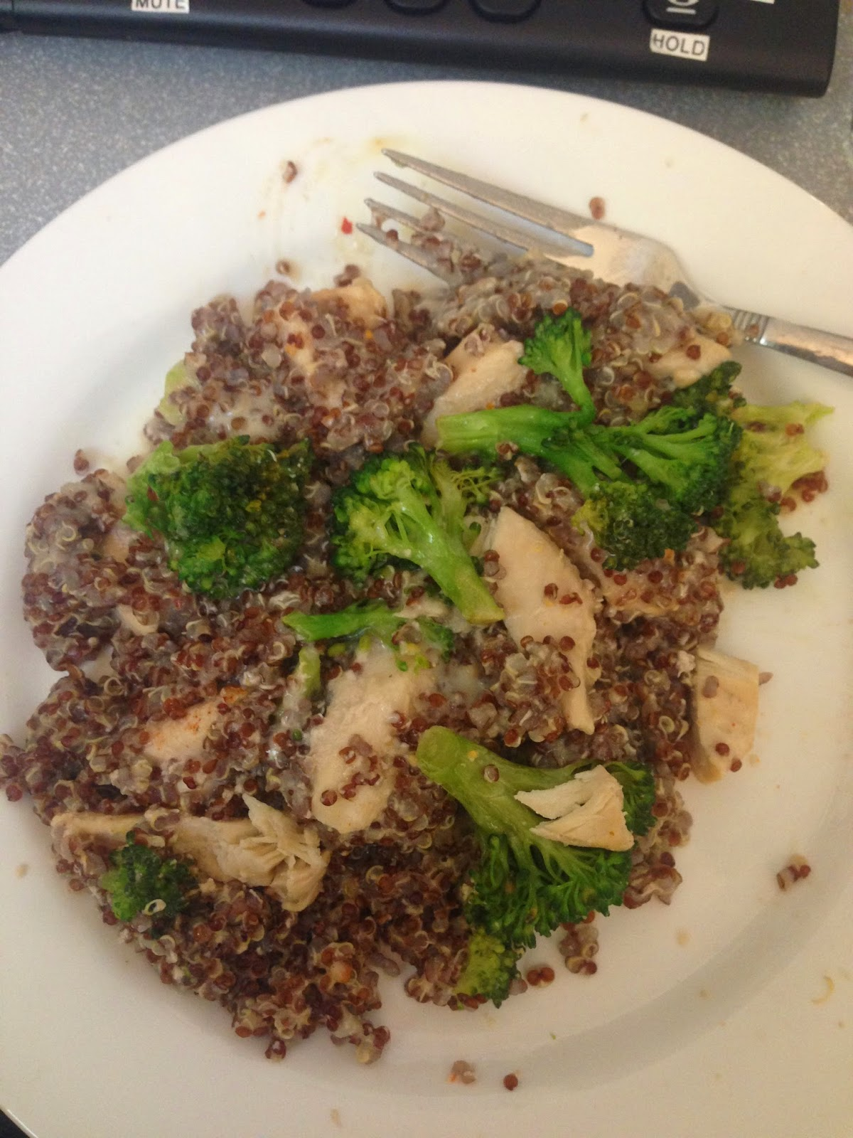 chicken quinoa broccoli hello kitty