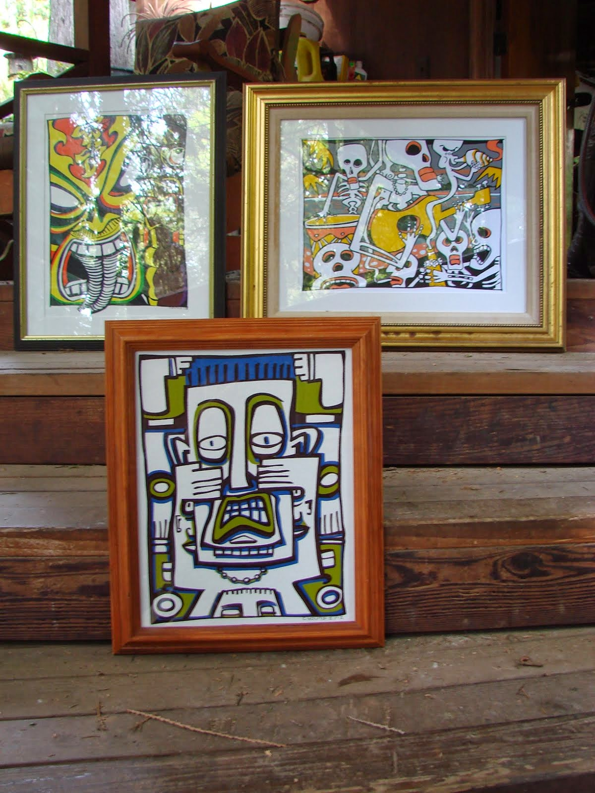 I framed these screen printed items for Tiki Caliente this week.